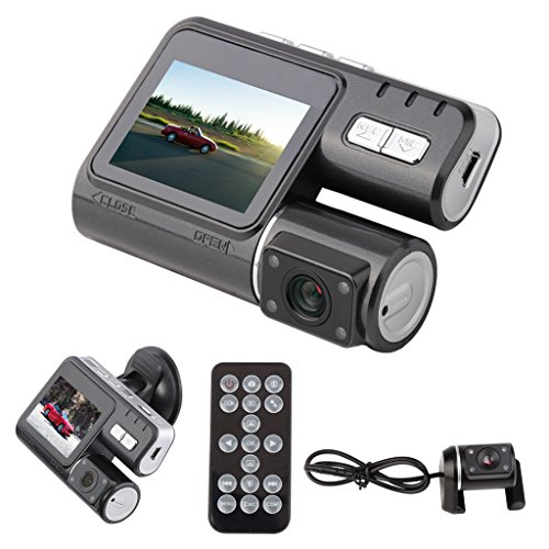 Car DVR,Hosamtel 2.0 inch HD TFT 170° Car Dash Cam Recorder 1080p LED Support Motion Detection, Audio and Video Recording with G-sensor+Rear Camera