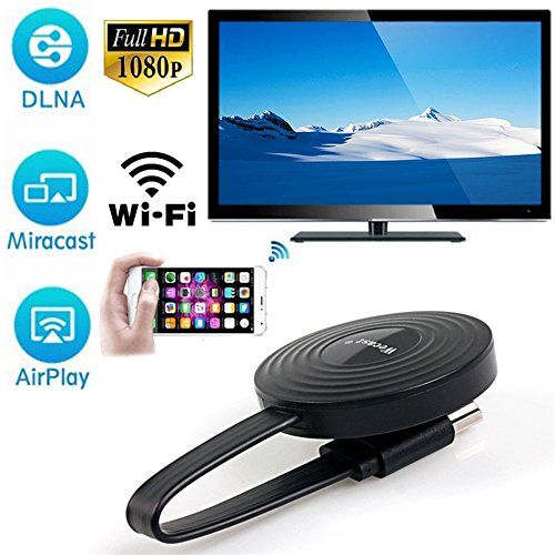 Wireless WiFi 1080P Full HD HDMI Screen TV Receiver Adapter Support Google Chromecast for Netflix YouTube Miracast AirPlay Mirroring for Android/Mac / iOS/Windows