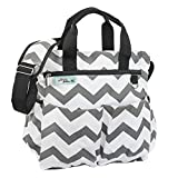 Diaper Bag for Boys and Girls Premium Cotton Canvas 9 Pockets Gift Wet / Dry Bag and Baby Cushioned Changing Mat Bonus eBook Best Shower Gift offers