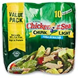 Chicken of the Sea Chunk Light Tuna, 10 Count (Pack of 10)