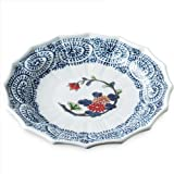 Japanese Porcelain Dish(9.3inch), Arita-ware Ryoushugama Ko-imari Mikomigiku Hassunzara