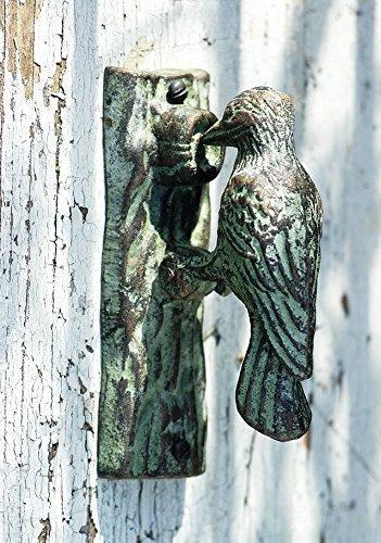 ( Discount) Woodpecker door knocker (hand painted), bird door knocker, woodpecker , cast iron door knocker, cast iron woodpecker door knocker.