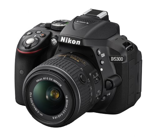 Nikon D5300 24.2 MP CMOS Digital SLR Camera with 18-55mm f/3.5-5.6G ED VR Auto Focus-S DX NIKKOR Zoom Lens (Black)