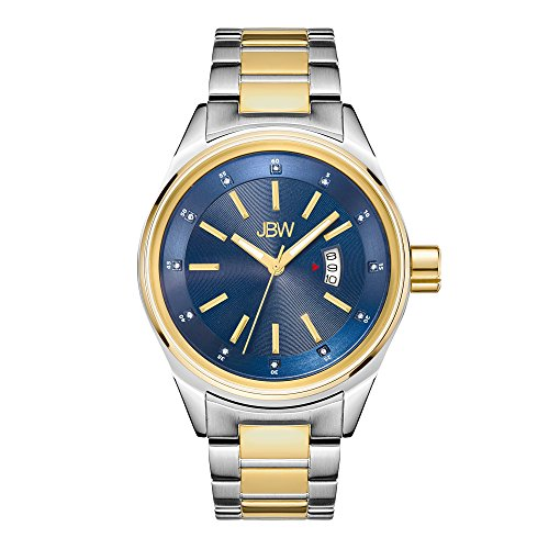 JBW Men's Rook J6287N Genuine Diamond Analog Display Two-Tone Stainless Steel & Gold Watch ()