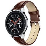 LNKOO Compatible Samsung Galaxy Watch (46mm) Bands, 22mm Width Leather Sport Band Replacement Strap Quick Release Pin Compatible Samsung Galaxy Watch (46mm) SM-R800/SM-R805 Color: Brown