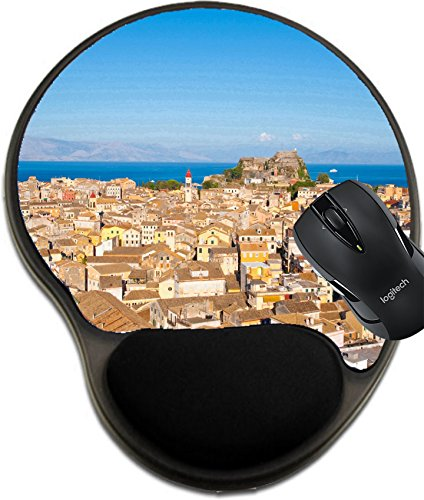 Price comparison product image MSD Natural Rubber Mousepad wrist protected Mouse Pads/Mat with wrist support design 33533493 CORFU AUGUST 22 Panoramic view of Corfu city from the New Fortress on August 22 2014 on Corfu island Greec