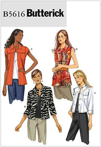Butterick # B6139 Vest or Jacket with Variations Patterns 14-22 UC