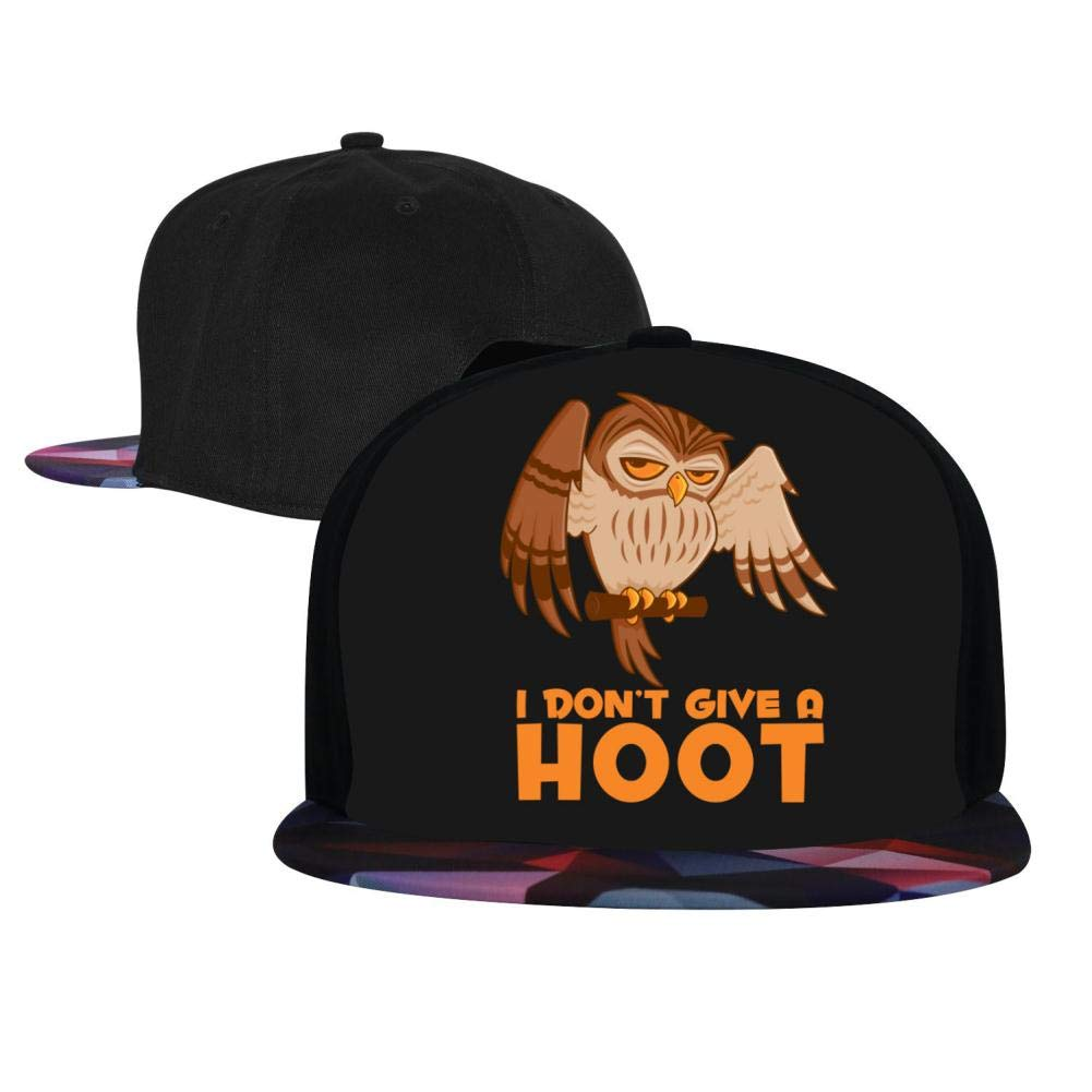 I Dont Give A Hoot Owl Mens and Womens Trucker Hats Adjustable Hip Hop Flat-Mouthed Baseball Caps