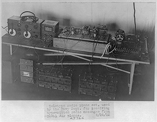 Photo: Teletype radio plane set,Navy Department,receive typewritten radio - Black Sales Froday