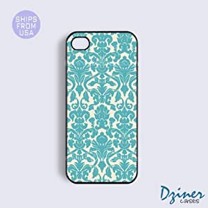 iPhone 5c Case - Vintage Blue Damask Pattern iPhone Cover