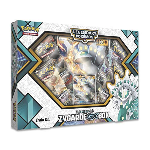 Pokemon TCG: Shiny Zygarde-Gx Premium Gx Box + 4 Booster Pack + A Foil Promo Card + A Oversize Foil Card (Pokemon Complete Set)