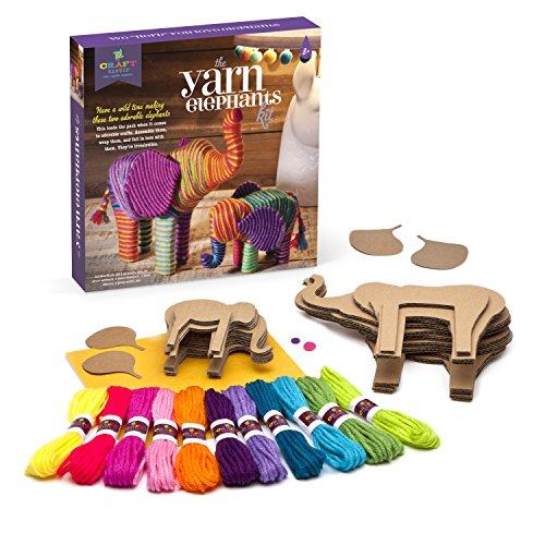 51C8%2BWqcD8L - Craft-tastic – Yarn Elephants Kit – Craft Kit Makes 2 Yarn-Wrapped Elephants