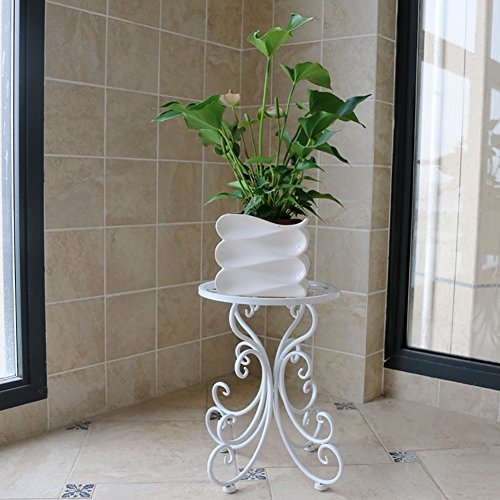 - Flower Stand, Continental Iron Art Flower Stand Single Layer Floor-standing Manual Making High Temperature Paint Container Balcony Living Room Indoor Bonsai Plant Potted Home Bracket