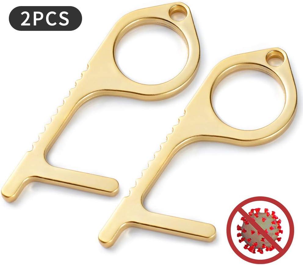 EDC Door Opener Simple Hand Door Opener /& Stylus Environmental Protection Stylus Keychain Tool(2pc)) Door Handle The Contactless Button Tool,The Elevator Button Open