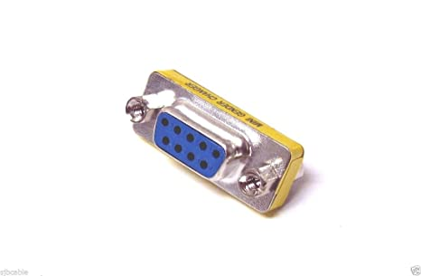 Serial RS-232 DB9 9 Pin Female to Female F//F Gender Changer Coupler Adapter