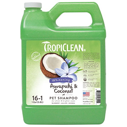 TropiClean Awapuhi & Coconut Whitening Pet Shampoo, 1 Gallon (Dog Conditioner Gallon Coat)