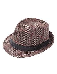 aa3216c2dde Bhwin Mens Fedora Hat Light Weight Panama Cap Winter Autumn Short Brim Jazz  Hat