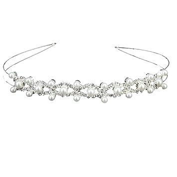 TOOGOO(R) Bridal Bridesmaid Flower-Leaf Pattern Headband Wedding Tiara wTVrcgVy5