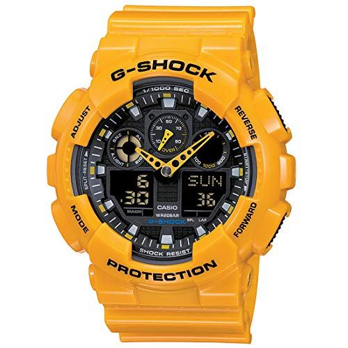 Casio G-Shock Analog-Digital Black Dial Men's Watch - GA-100A-9ADR (G273) -