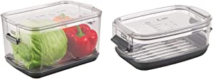 Prepworks by Progressive Produce ProKeeper Storage Container with Stay-Fresh Vent System, 5.7 Quarts & Prepworks by Progressive Berry ProKeeper, , 1.2-Quart, Fruit Vegetable Container,Black