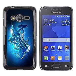 Street graffiti - Metal de aluminio y de plástico duro Caja del teléfono - Negro - Samsung Galaxy Ace4 / Galaxy Ace 4 LTE / SM-G313F