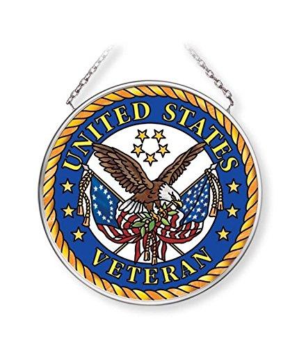 Navy Suncatcher (Amia United States Veteran Glass Suncatcher Inches, 3-1/2