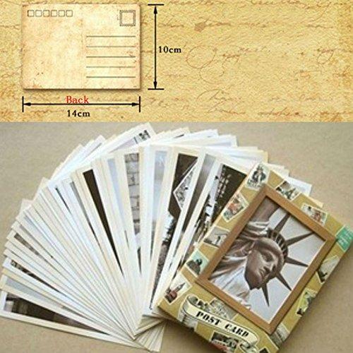 Memory Greeting Cards - AKOAK 32 Pcs/Set Vintage Style Famous Building Retro Old Travel Postcards for Worth Collecting Memory Greeting Cards