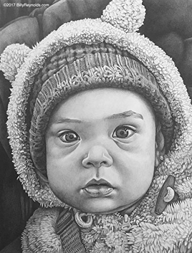 Portrait Graphite Pencil of Person Quality Realism 11''x14'' by Custom Art Portraits