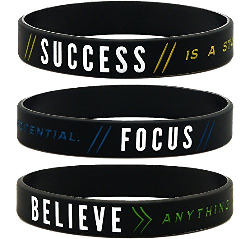Inkstone (12-Pack) Motivational Silicone Wristbands for sale  Delivered anywhere in Canada