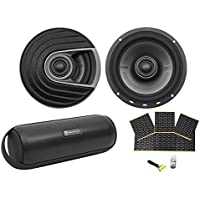 "(2) Polk Audio MM652 6.5"" 600w Car Audio/Marine Speakers+Rockmat+Free Speaker"