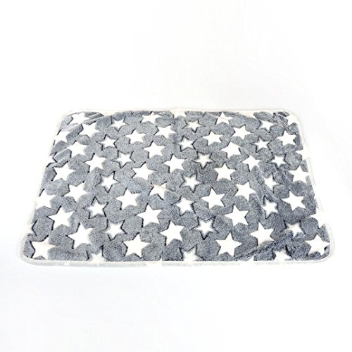 OOEOO Pet Throw Blanket for Dog Cat Bed Rest Breathable Pet Cushion Soft Warm Sleep Mat (Gray, 40x60CM) by OOEOO Pet Clothes (Image #2)