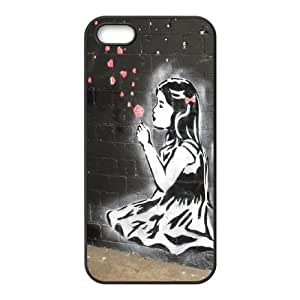 Unique Phone Case Pattern 11Banksy Girl- For Apple Iphone 5 5S Cases