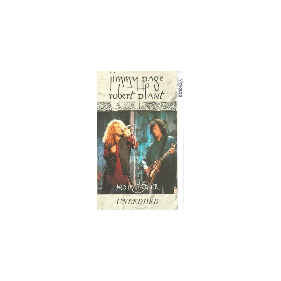 Jimmy Page/Robert Plant   No Quarter Unledded [VHS] Jimmy Page
