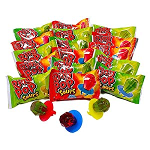 Ring POP Individually Wrapped Bulk Variety Party Pack Lollipop Suckers W/ Assorted Flavor, 3Count (Pack Of 12)