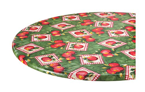 Miles Kimball Apple Patch Vinyl Elasticized Table Cover b...