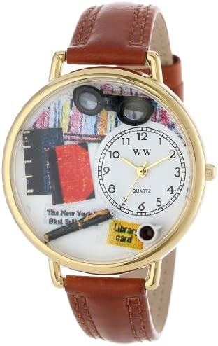 Whimsical Watches Unisex G0460001 Book Lover Tan Leather Watch