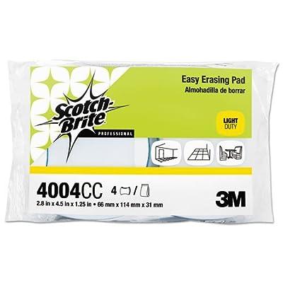 Scotch-Brite PROFESSIONAL 55658 Easy Erasing Pad 4004, 2 4/5 x 4 1/2 x 1 1/5, Blue/White, 4 per Pack (Case of 3 Packs)
