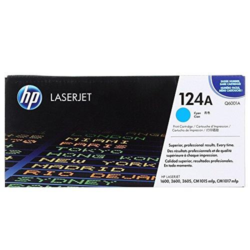 HP 124A (Q6001A) Cyan Original Toner Cartridge Q6001a Cyan Laser Toner