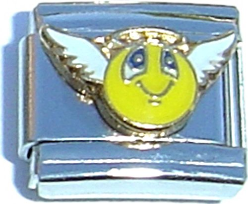 Angel 9mm Italian Charm (Angel Smiley Face Italian Charm)