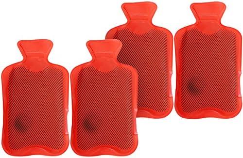 com-four® 4X Taschenwärmer Wärmflasche - Handwärmer im klassischen roten Design (Set17 Wärmflasche)