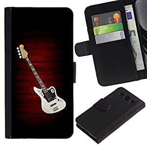 "SAMSUNG Galaxy S3 III / i9300 / i747 , la tarjeta de Crédito Slots PU Funda de cuero Monedero caso cubierta de piel ("" Guitar Music Creation Art Drawing Pop Culture"")"