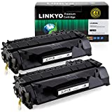 2-Pack LINKYO Compatible Toner Cartridges Replacement for HP 05A CE505A (Black)