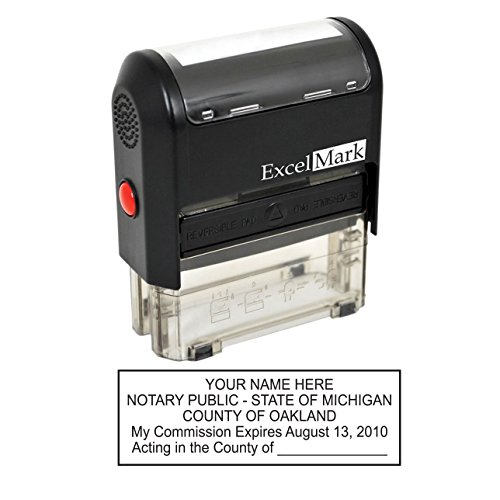(ExcelMark Self Inking Notary Stamp - Michigan)