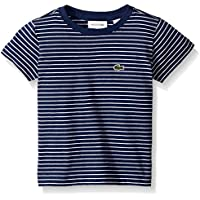 Lacoste Boy Short Sleeve Striped Tee Shirt