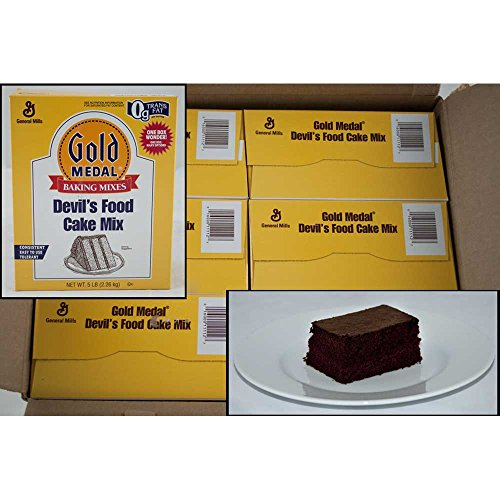 Gold Medal Devils Food Cake Mixes 6 Case 5 Pound by General Mills