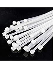 Cable ties, Cable Management White Wire Zip Ties Nylon Cables Ties (350mm) (Pack of 100)