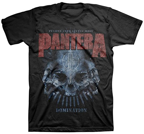 Pantera - Domination Distressed T-Shirt Size L - Pantera Rock Music Band