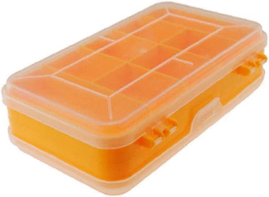 Outils en plastique robuste Bo/îte de rangement /à deux couches composants bo/îte de rangement Organizer petites pi/èces Bo/îte /à outils