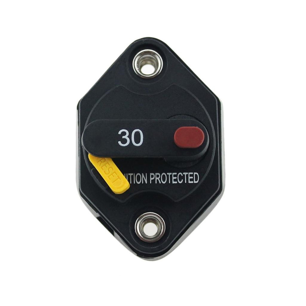 MagiDeal 2PCS Circuit Breaker 30 Amp,Car Automotive Marine Boat Circuit Breaker Manual Reset Fuse Holder 12V-32V DC,Waterproof IP67