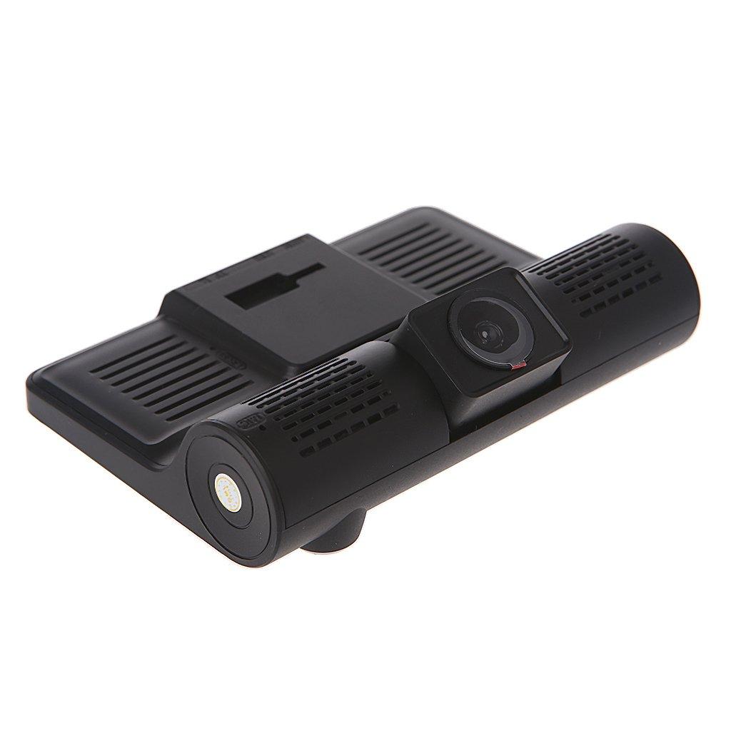Xineker C/ámara Dash Cam 4 pulgadas 1080P con tres lentes de coche DVR c/ámara de v/ídeo coche grabadora v/ídeo visi/ón nocturna//sensor G en bucle conducci/ón grabaci/ón grabaci/ón